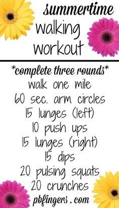 Summertime Walking Workout (Plus links to lots of walking workouts!)