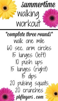 Walking Workouts - Peanut Butter Fingers                                                                                                                                                      More