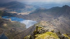 The breathtaking sight of a magical lake from Wales' highest mountain tops poll of favourite spots.