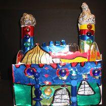 Various teaching examples on Friedensreich Hundertwasser in art class . - Various teaching examples on Friedensreich Hundertwasser in art classes for classes - Diy Paper, Paper Crafts, Friedensreich Hundertwasser, Holiday Parties, Holiday Decor, Pin Up Art, Art Classroom, Art Club, Famous Artists