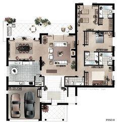 Home Building Design, Home Design Floor Plans, Home Room Design, Building A House, Simple House Plans, Dream House Plans, Modern House Plans, House Floor Plans, Layouts Casa