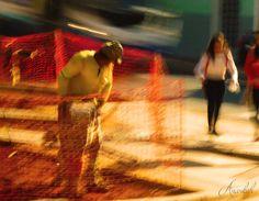 Man at work series ©.Anankah  [Nancy Duarte] Street, colour, motion picture, LE