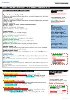 RESUMOS - PROVA DE AFERIÇÃO DE GEOGRAFIA 8º ANO (14 páginas) Summary, Geography, Books