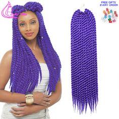 Kanekalon Ombre Trenzado de cabello Rizado Afro Marley Havana Mambo Crochet Giro…