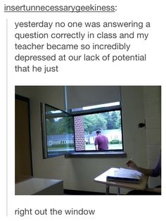 I feel like our teachers would do this. Even though our team is on the 2nd floor, I'm sure they would.