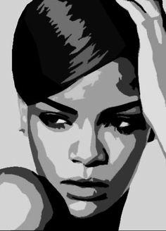 Bildresultat för pop art black and white