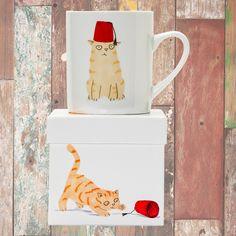 Magpie - Cats & Hats Big Mug - Ginger & Fez