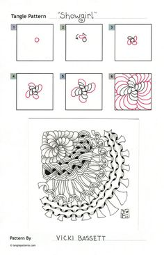 Show Girl - http://tanglepatterns.com/2014/02/how-to-draw-showgirl.html