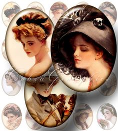 Harrison Fisher's Victorian Women Portraits by CobraGraphics, via Flickr