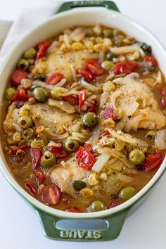 Mediterranean Chicken with Tomatoes, Olives and Capers