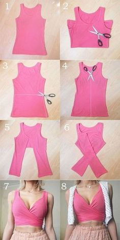 These DIY tops are sweeter than the cutest summer dresses clothes for teen clothes no sewing clothes refashion clothes thrift store clothes tshirt Cute Summer Dresses, Stylish Dresses, Summer Outfits, Diy Outfits, Dress Summer, Summer Clothes, Dresses Dresses, Trendy Outfits, Summer Fashions
