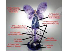Quinceanera Centerpiece #073. For more details, including color options and pricing, please visit our website www.lacrafts.com (Centro de mesa para Quinceanera #073. Para más detalles, incluyendo opciones de color y los precios, por favor visite nuestro sitio web www.lacrafts.com)