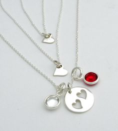 Personalized Necklace Set for Mother and Daughters by TNine Design, $71.00
