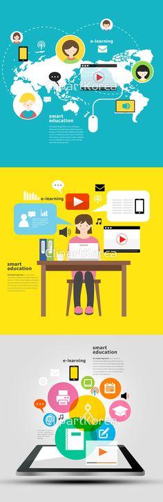 앞으로의 #교육은 어떤 모습일까요?  #교육  #디지털 #모바일  #스마트폰  #이러닝  #일러스트  #태블릿  #디자인  #마케팅  #비즈니스  #Digital #mobile #smartphone #tablet #e-learning #education #illustration #design #Marketing #Business #클립아트코리아 #clipartkorea #이미지투데이 #imagetoday #통로이미지 #tongroimages E Learning, Illustrations, Graphic Design, Digital, Cards, Illustration, Maps, Playing Cards, Visual Communication