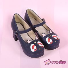 Reservation to July! Sailor Moon Luna Kitten High Heels Shoes SP151973