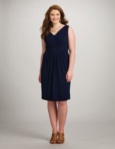 Finding a plus size dress that flatters your figure, feels great & will be worn for years to come is easy at dressbarn. Whether you're browsing for a special occasion or a dress you can wear year round, shop the latest in plus size dresses today! Plus Size Dresses, Cute Dresses, Short Dresses, Dresses For Work, Bride Dresses, Work Outfits, Plus Size Workwear, Navy Dress, V Neck Dress