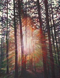 """Sunburst"" - oil on canvas, in Landscape"