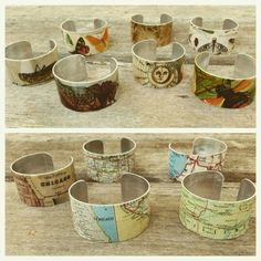 Metal and jewelry design by Julie Marie Jewelry by EclecticRedesigns Cuffs, Etsy Seller, Jewelry Design, Map, My Style, Creative, Shopping, Vintage, Arm Warmers