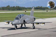Bae Hawk trainer of Finnish Air Force Midnight Hawks display team.