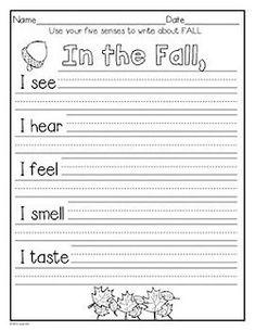 Writing Activities and More: September, October, & November~K to Grade 1 Kindergarten Science, Teaching Science, Classroom Activities, Preschool, Teaching Writing, Writing Skills, Writing Prompts, Writing Lessons, First Grade Writing