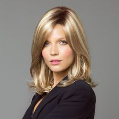 Shop online for the Noriko Kenzie wig, shown in Maple Sugar-R and Creamy Toffee-R colours. Long layers with flicked ends create the unique style with attitude.