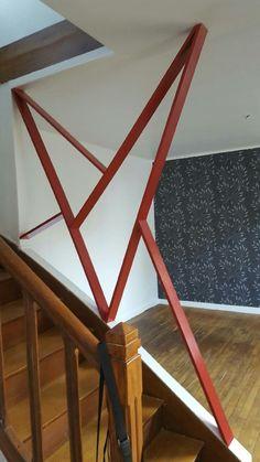 Création d'une rembarde escalier en médium