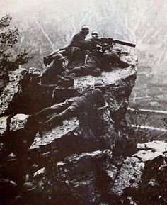 Italian soldiers on Mount Grappa, WWI