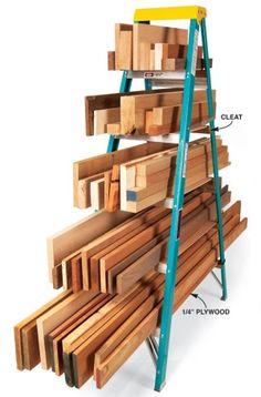 Ladder lumber rack