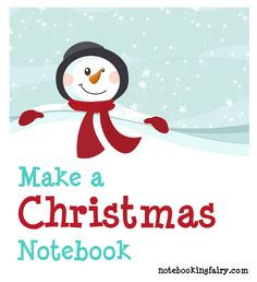Make a Winter and Christmas Notebook