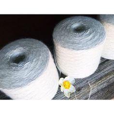 Can you see how **fluffy** this yarn on cones is....? #siidegarte #yarn #handdyed #indiedyer #switzerland