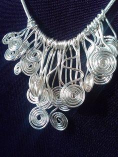 Spiral wire necklace. $14