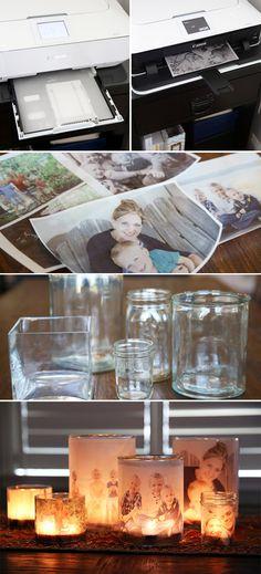 DIY Photo Candle Jar