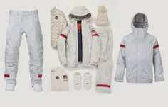 With iridescent silver fabrics and a retro-futuristic theme, Burton's 2018 U.S. Snowboard Team uniforms tip a hat to the American space program.