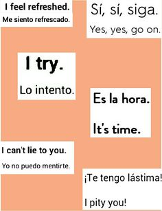 Printing Ideas Videos Elementary Spanish For Adults Ideas Spanish Help, Spanish Notes, Learn To Speak Spanish, Spanish Basics, Study Spanish, Spanish Phrases, English Phrases, Spanish Lessons, English Words