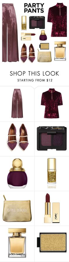 """Party pants"" by gul07 ❤ liked on Polyvore featuring Temperley London, Marc Jacobs, Malone Souliers, NARS Cosmetics, Christian Dior, Dolce&Gabbana, Secret Service Beauty, Yves Saint Laurent, Buxom and partypants"