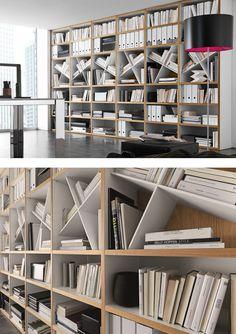 Open wall-mounted sectional #bookcase COMP 302 by Presotto Industrie Mobili   #design Pierangelo Sciuto @presottoitalia