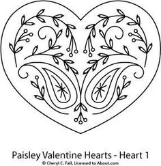 Paisley Heart 1 - cute for embroidery