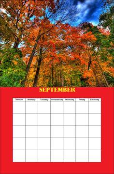 September Season Calendar, Monday Tuesday Wednesday, September, Seasons, Seasons Of The Year