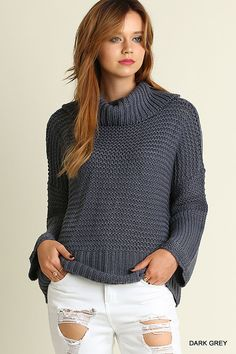 24c4c3394f31c This casual chunky knit turtleneck sweater is our absolute favorite! Loose  fitting and super cozy