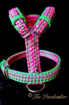 "Adjustable and reflectable Dog Harness ""Bindi"". (Back sight) #Paraknotter…"