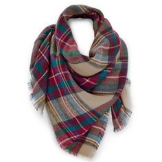 Venus Multi Color Plaid Scarf ($26) ❤ liked on Polyvore featuring accessories, scarves, colorful scarves, tartan plaid scarves, plaid scarves, plaid shawl and tartan plaid shawl