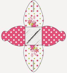 Pascua en Rosa: Cajas para Imprimir Gratis.
