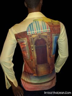 Groovy 70's Vintage Mens Shirt - dig that picture back style!