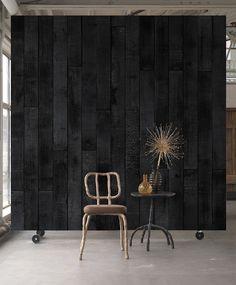 Maarten Baas Burnt Wood Wallpaper design by Piet Hein Eek for NLXL Wal Contemporary Wallpaper, Contemporary Design, Diy Art, Stunning Wallpapers, Wood Wallpaper, Black Wallpaper Bedroom, Mac Wallpaper, Bedroom Red, Ideas