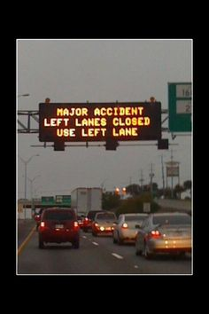 Use the closed lane lol right
