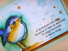 Scribbly Birds - card by guest Donna Mikasa