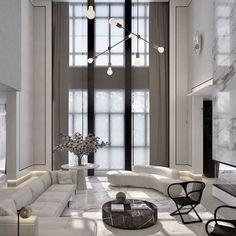 20 besten Luxus-Wohnzimmer-Ideen - - List of the best home decor Home Living Room, Interior Design Living Room, Living Room Designs, Kitchen Living, Modern Interior Design, Luxury Interior, Minimalist Interior, Contemporary Interior, Black And White Living Room