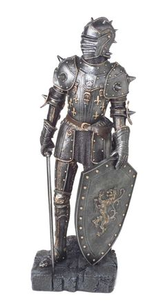 Image detail for -Miniature Suit of Armor Knight - Mini Armour Medieval Knight Armor, Medieval Weapons, Armadura Medieval, Fantasy Armor, Medieval Fantasy, Knight On Horse, Good Knight, Ancient Armor, Armor Clothing