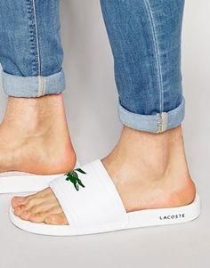a6ec6c78f Lacoste Fraisier Croc Slider Flip Flops Lacoste Shoes Women