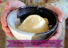 Making Butter in a Jar with Kids